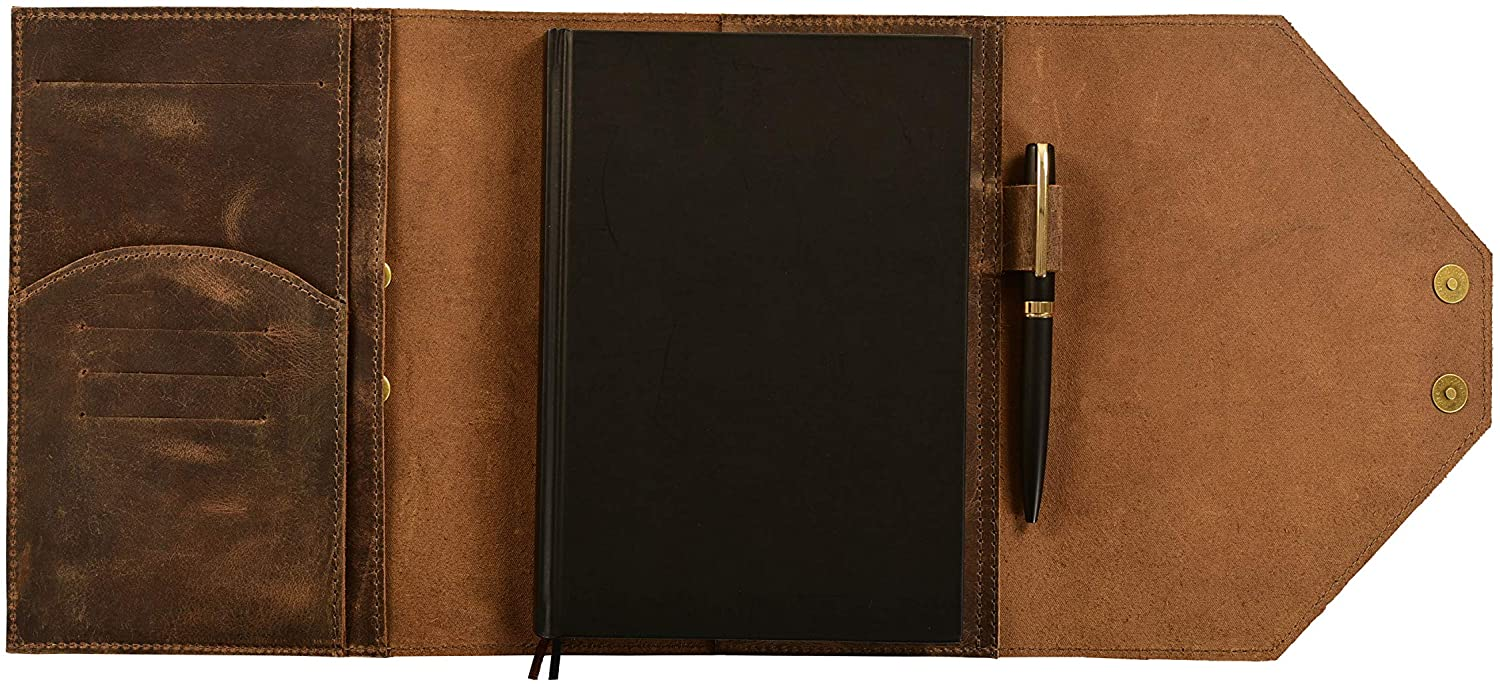Leather Journal Cover 2021 A5 Multi Planner Organizer Wallet Genuine Palnner Agenda Notebook