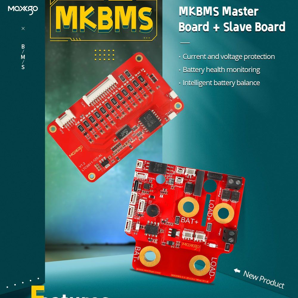 Smart BMS Li-ion Lithium Battery Management System Master Slave Board Compatible with ENNOID-BMS-TOOL for 30-150V - MKBMS