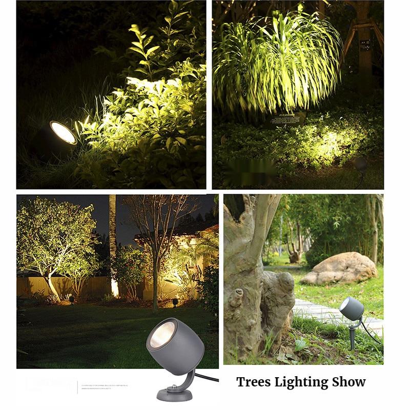 COB Garden Light Christmas Lights Outdoor Floor Lamp Patio Garden Path Lights Spotlight Tree Light Waterproof Led Green Lights enlarge