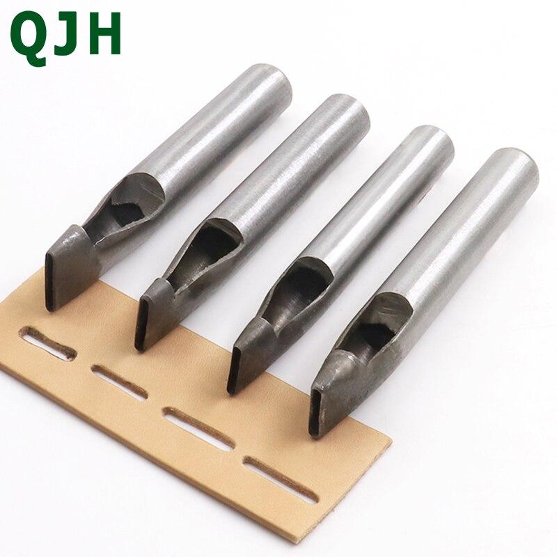 Perforadora de piel con forma ovalada, herramienta para perforar, hacer uno mismo