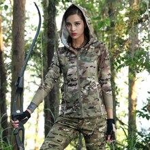 Camouflage women Multicam jacket Scorpio Quick-drying Woodland Black military uniform long sleeve Hoodies