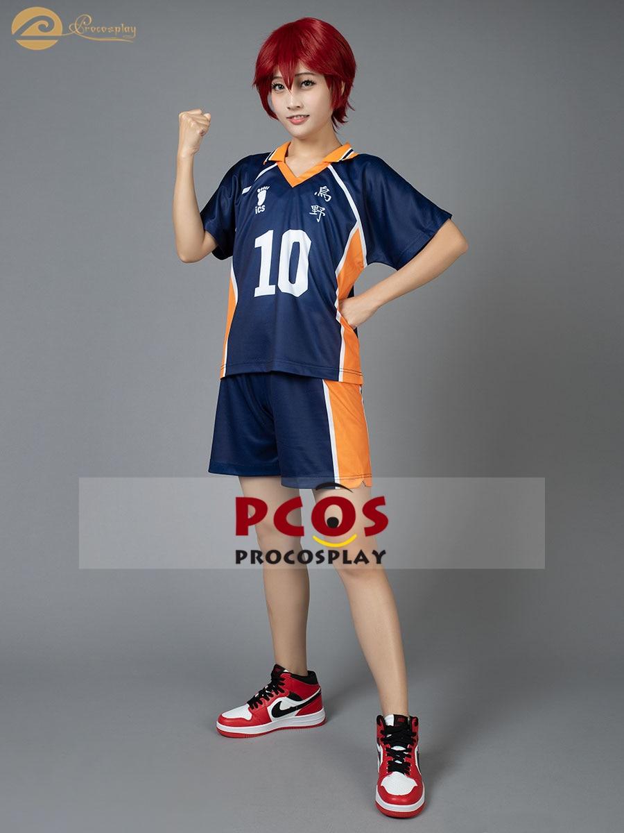 ¡Procosplay en stock tee! Hinata Syouyou n° 10 Cosplay traje camisetas mp002357