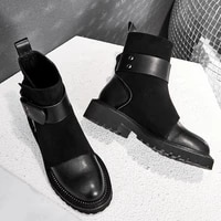 doratasia 2020 belt buckle boot brand design genuine leather kid suede woman shoes boots women ankle boots female