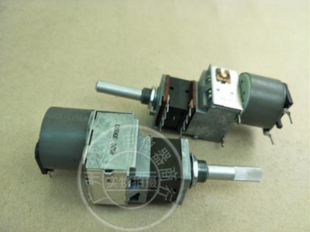 Original ALPS 30KBX2 RK18 Motor potentiometer B30K Tap handle 30MMF 8 Feet