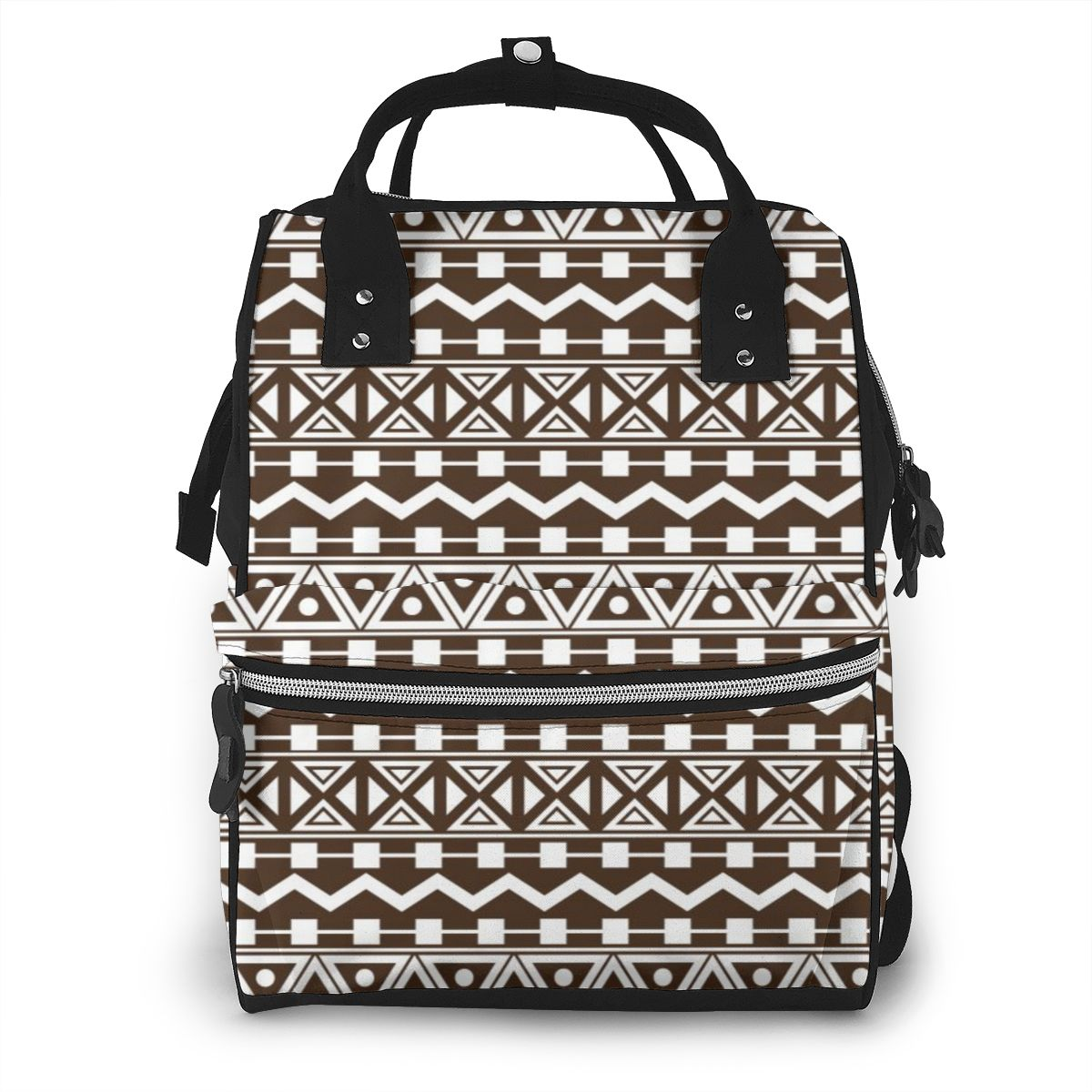 Bolsa de pañales Tribal azteca, mochila de gran capacidad para cochecito, bolsa de bebé para mamá, bolsas de pañales impermeables multifunción para exteriores