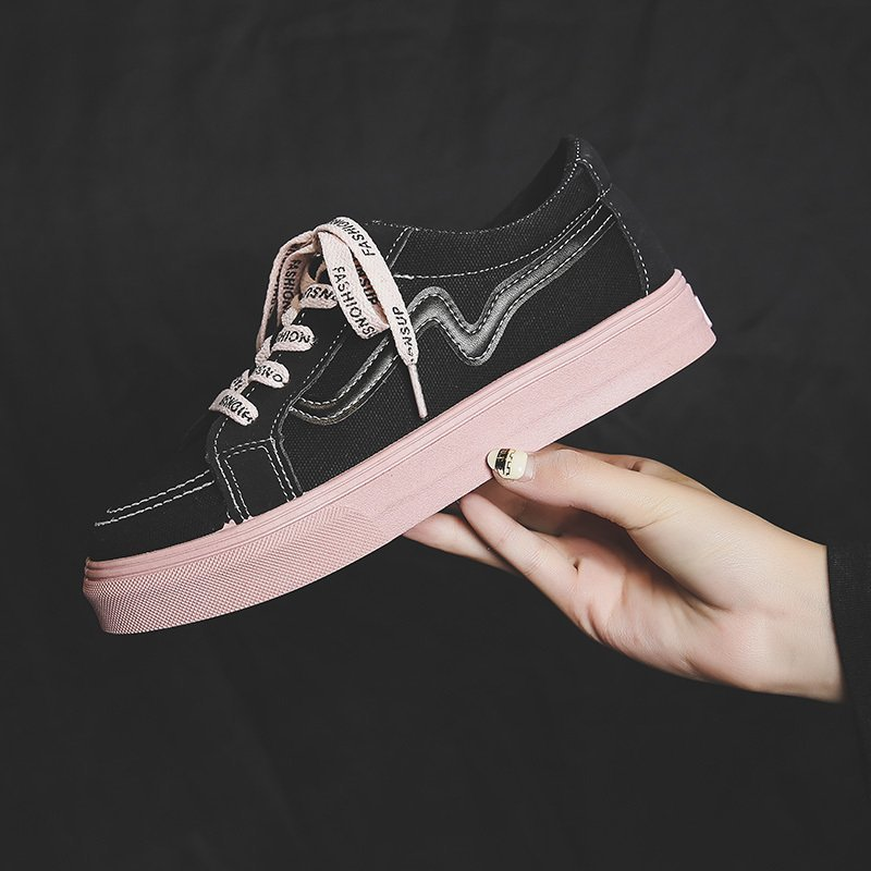 Canvas Solid Women Vulcanize Shoes Woman Sneakers Female Chunky Casual Shoes for Women Chaussure Fem