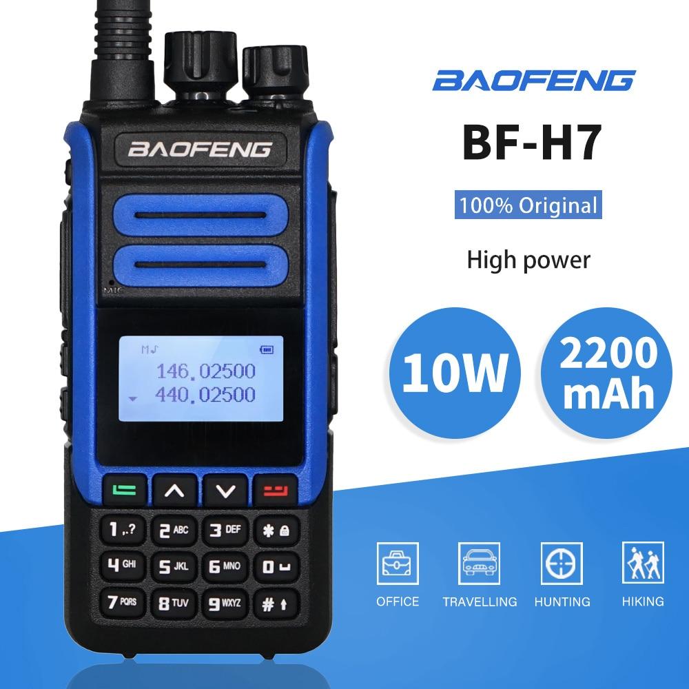 Real 10W BaoFeng BF-H7 Walkie Talkie Powerful Amateur Ham CB Radio Station BF-H7 Dual Band Transceiver 10KM Hunting Intercom