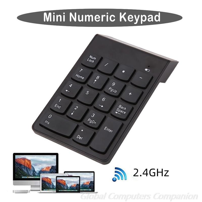 2.4Ghz Wireless Numeric Keyboard Mini Numeric Keypad Number Pad 18 Keys Digital Keyboard for Accounting Teller Laptop Notebook клавиатура trust xalas numeric