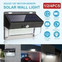 Outdoor 262 LED Solar Light Wireless Solar Motion Sensor Light Waterproof IP65 Garden Security Light Luz Solar Led Para Exterior