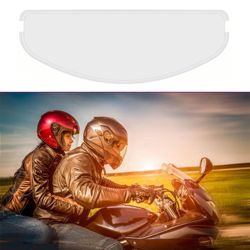 Premium New 1set Universal Full Open Face Helmet Lens Anti Fog Film for Helmet Visor Helmet Lens Sticker Moto Helmet Accessories enlarge