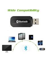 USB سماعة لاسلكية تعمل بالبلوتوث سيارة كيت ستيريو جهاز استقبال للموسيقى دونغل مع 3.5 مللي متر جاك الصوت كابل ل الصوت لفون 6 لسوني LG