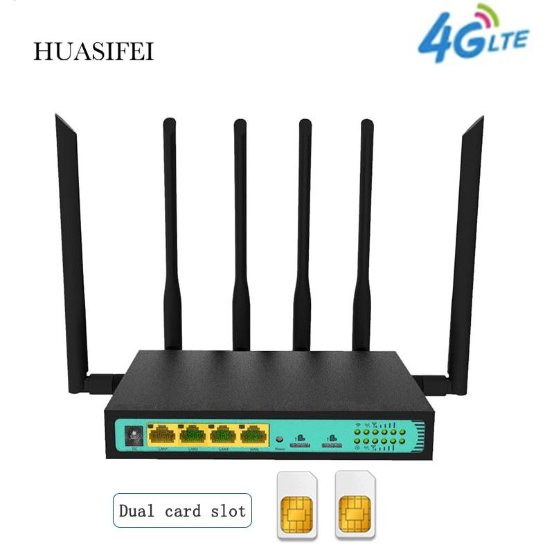 Фото - 4G Dual SIM Card Router 4G Wireless Router 4G WiFi Router Sim 4G Router PPTP L2TP Openwrt VPN Router 300Mbps Wireless Router huasifei 4g dual card multi mode intelligent 1200m 3g4g lte dual sim card router openwrt l2tp router wifi modem router with sim