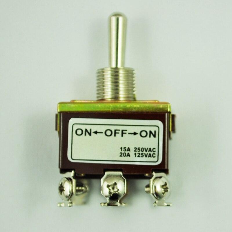 DPDT On/Off/3 posición 6 interruptor de palanca de terminales AC 250V 15A