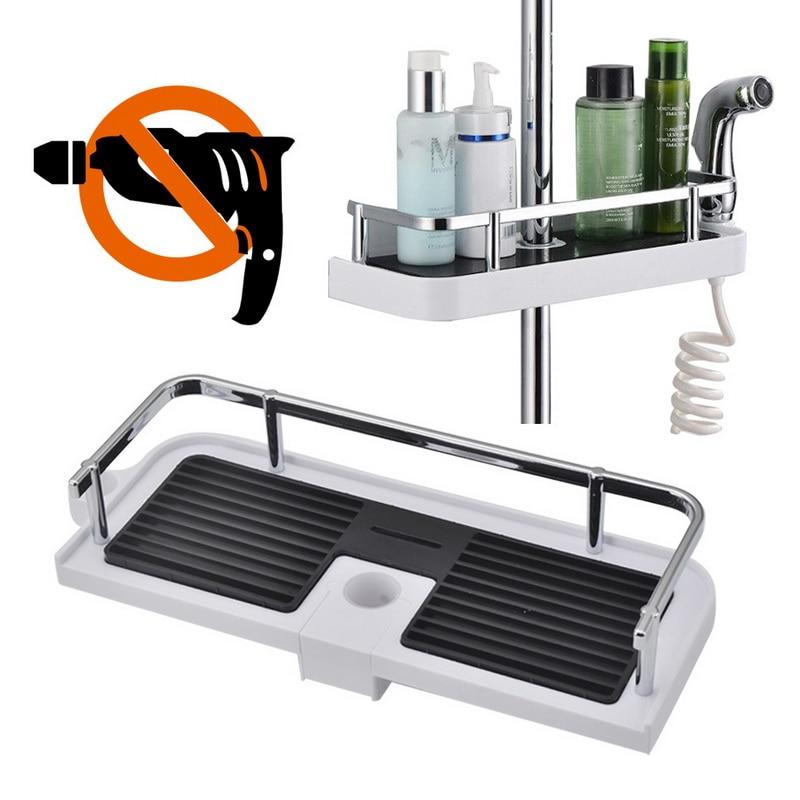 1 Uds. De soporte ajustable para baño, estante de ducha, organizador para cabezal de ducha, soporte para bandeja para champú, organizador para almacenamiento de ducha, suministros