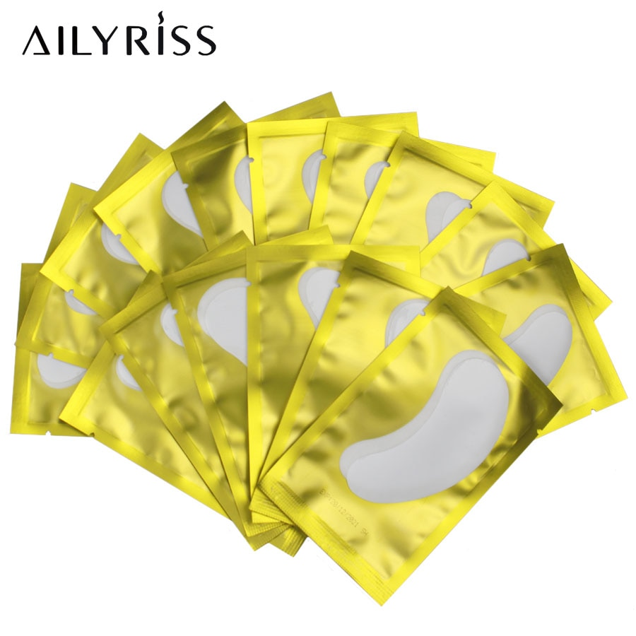 200 Pairs Patches for Building Hydrogel EyePads Eyelash Extension Paper Stickers Lint Free Under Eye Pads Makeup Supplies