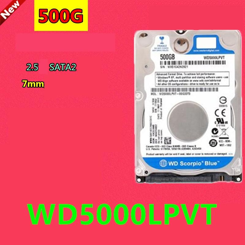 جديد الأصلي HDD ل WD 500 جيجابايت 2.5