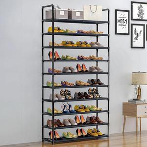 High Capacity 10-layer Shoe Cabinets Metal Shoe Rack Home Storage Dustproof Storage Cabinet Holder Multi-function Organizer Rack