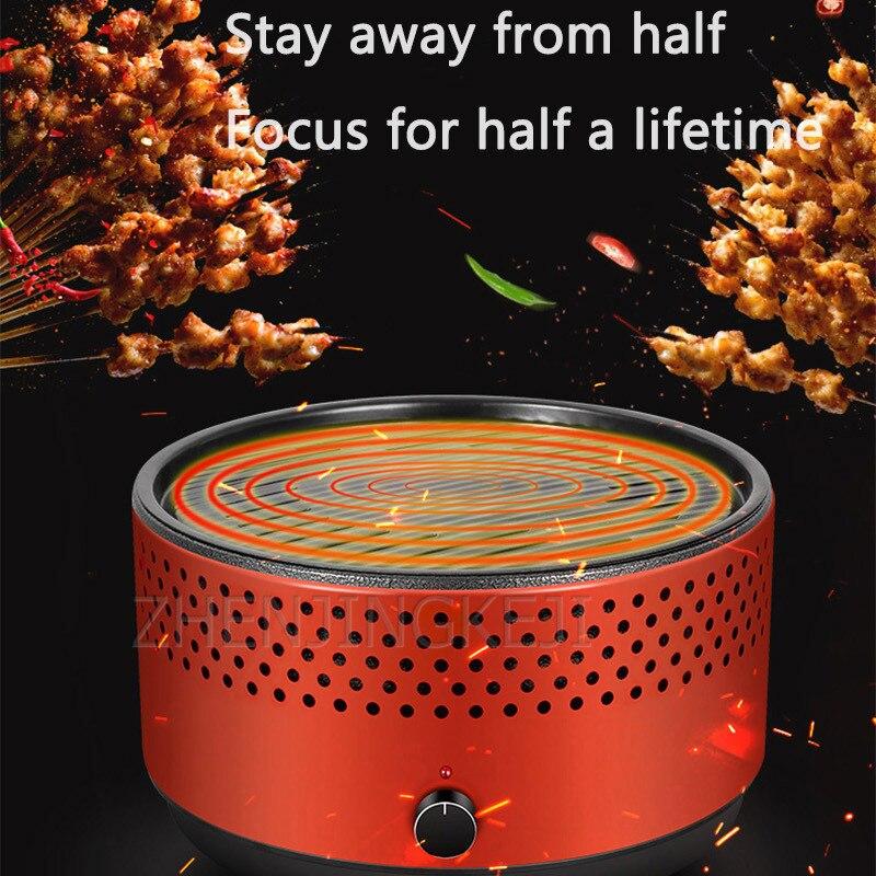 Домашнее разделение дыма от масла, гриль для барбекю, круглый гриль на древесном угле, внутренний и наружный портативный гриль для барбекю, ...