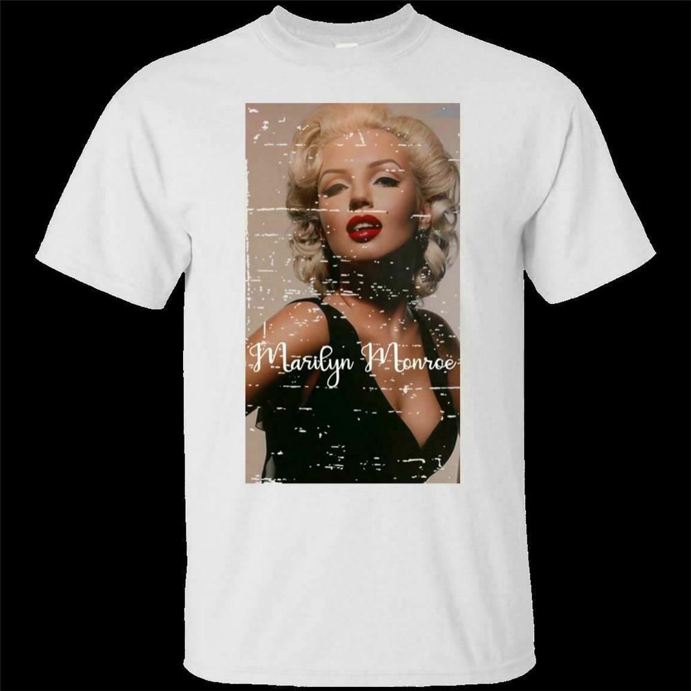 Marilyn Monroe American Sexy actriz rubia famosa 2019 hombres mujeres camiseta S-3Xl camiseta Retro