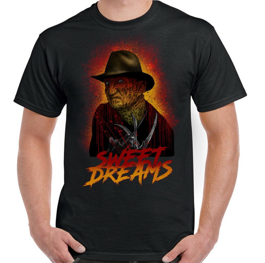 Freddy Krueger Camiseta de Halloween Dulce Sueños Hombre Pesadilla en Elm Street Camiseta transpirable hombres Tops