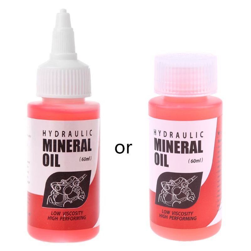 Bicycle Brake Mineral Oil System 60ml Fluid Cycling Mountain Bikes 24BD