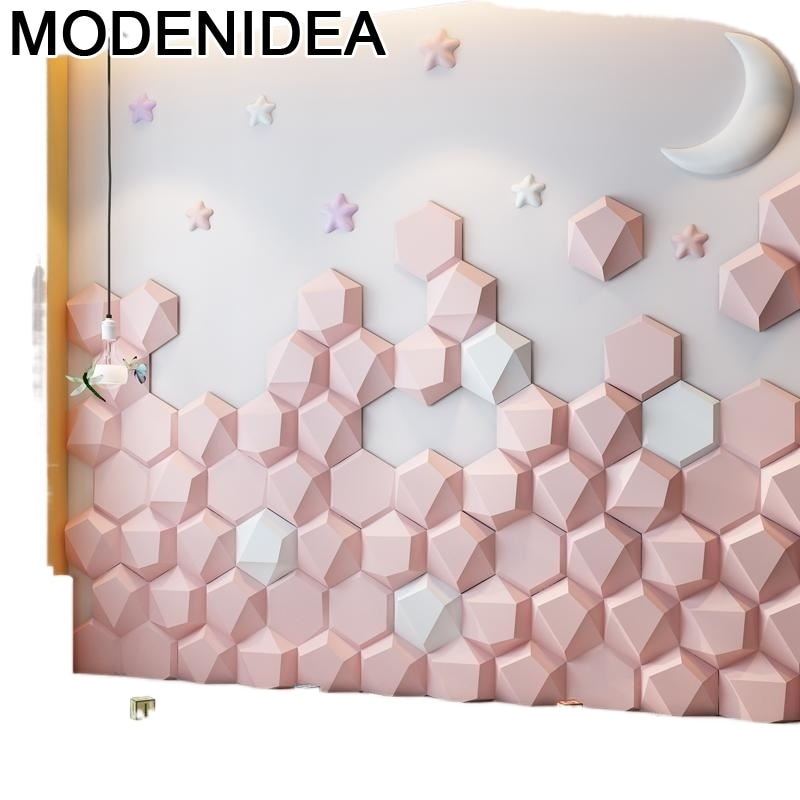 Деревянная детская 3d Наклейка на стену для изголовья кровати чехол для изголовья кровати округлой формы