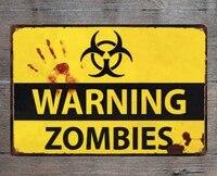 Signe de Zombie chimique en metal  decoration en etain  pas dintrusion  cinema  chambre a coucher  mur  grotte dartiste  12x8 pouces