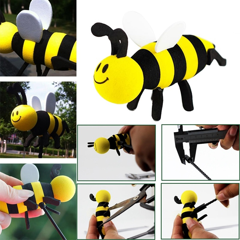 Decoración bonita de antena de coche, bonita Antena de bola aérea Honey Bee, accesorios para embellecedor de techo Exterior de estilismo de coche