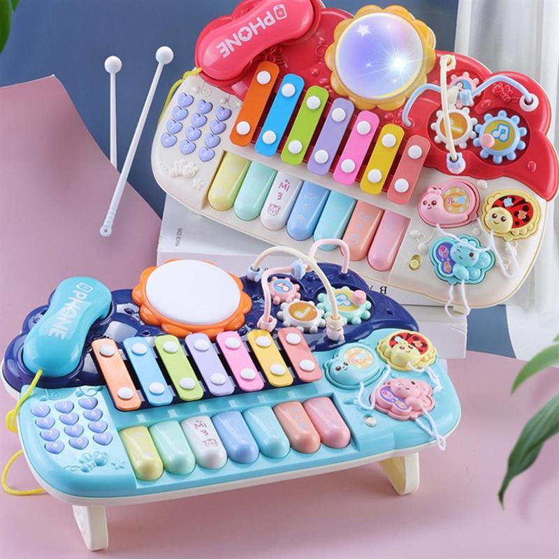 brinquedo de piano para criancas 6 em 1 teclado multifuncional brinquedo educativo