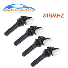 4 PCS Car F2GT-1A180-AB F2GT-1A150-AB TPMS Tire Pressure Sensor 315MHZ For 2015-2018 F ord E dge Gal