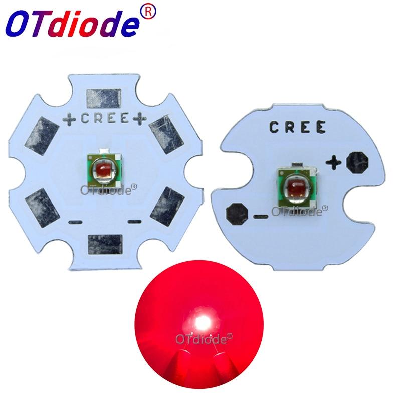 Original 1W - 3W Cree Xlamp XPE XP-E Photo deep red 660 665nm 2.1-2.5V 350-1000MA Led Beads Plant Grow Led Emitter Lamp Light