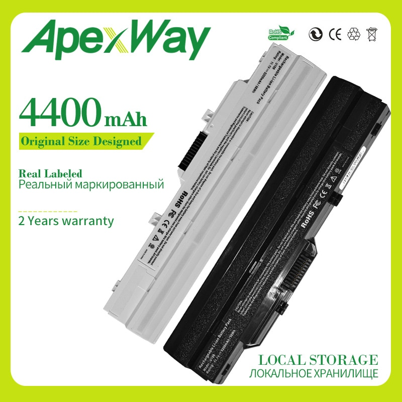 BTY-S11 BTY-S12 Bateria do portátil para MSI Wind U100 L1300 L1350 L1350D U100X U100W U135DX U210 U270 U90X Wind12 U200 U210 U230