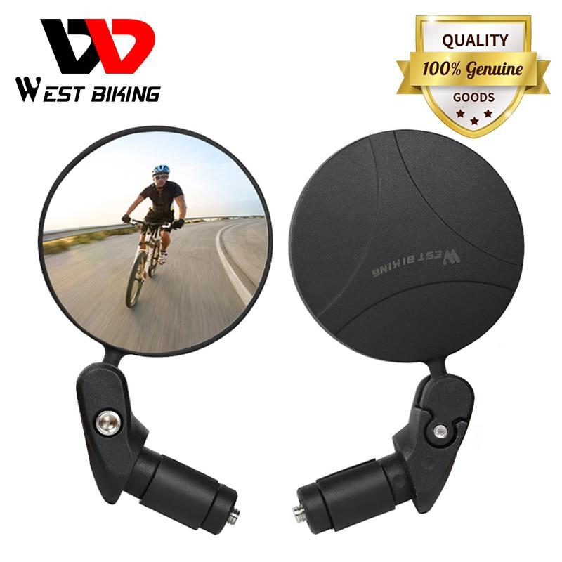 WEST BIKING Bike Rearview Mirror 360 Rotation Adjustable Wide Angle Cycling Rear View MTB Road Bike Bicycle Handlebar Mirrors