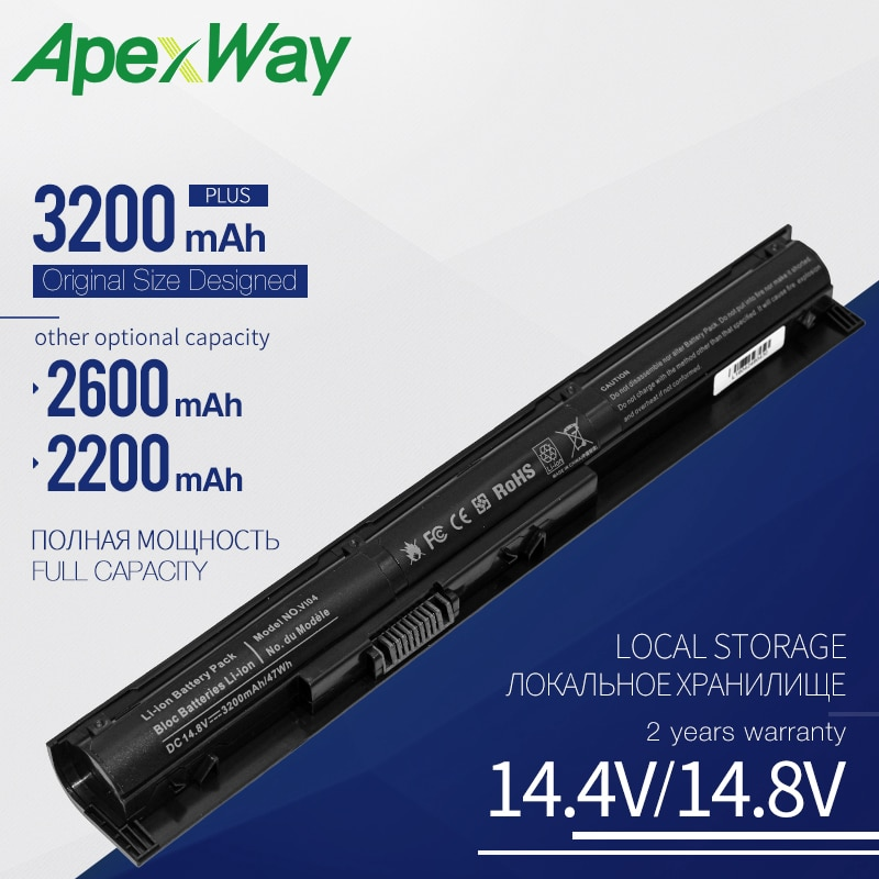 Apexway 4 celular VI04 VIO4 batería de ordenador portátil para HP ProBook 440/450 G2 serie 756743-001 756745-001 756744-001 756478-421 HSTNN-DB6I