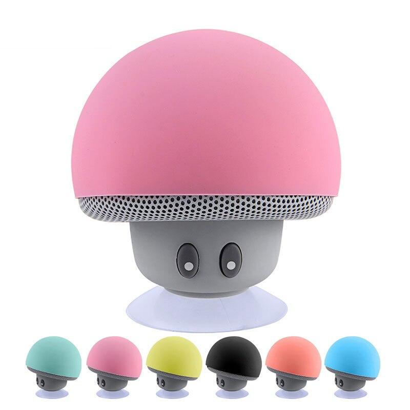 Mini Altavoz Bluetooth resistente al agua, estéreo HiFi de música inalámbricos con forma de seta, Subwoofer manos libres para teléfonos y Android IOS