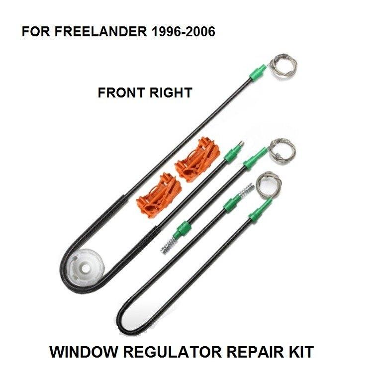 96-06 para LAND ROVER freelánder 4X4 eléctrico ventana regulador KIT de reparación de puerta frontal derecha nuevo