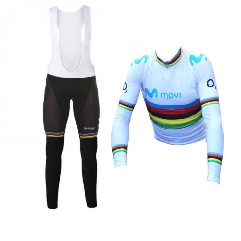 2019 kış polar İspanya pro takımı dünya şampiyonu bisiklet forması seti isıtıcı MTB hızlı kuru bisiklet giyim Ropa ciclismo jel pad