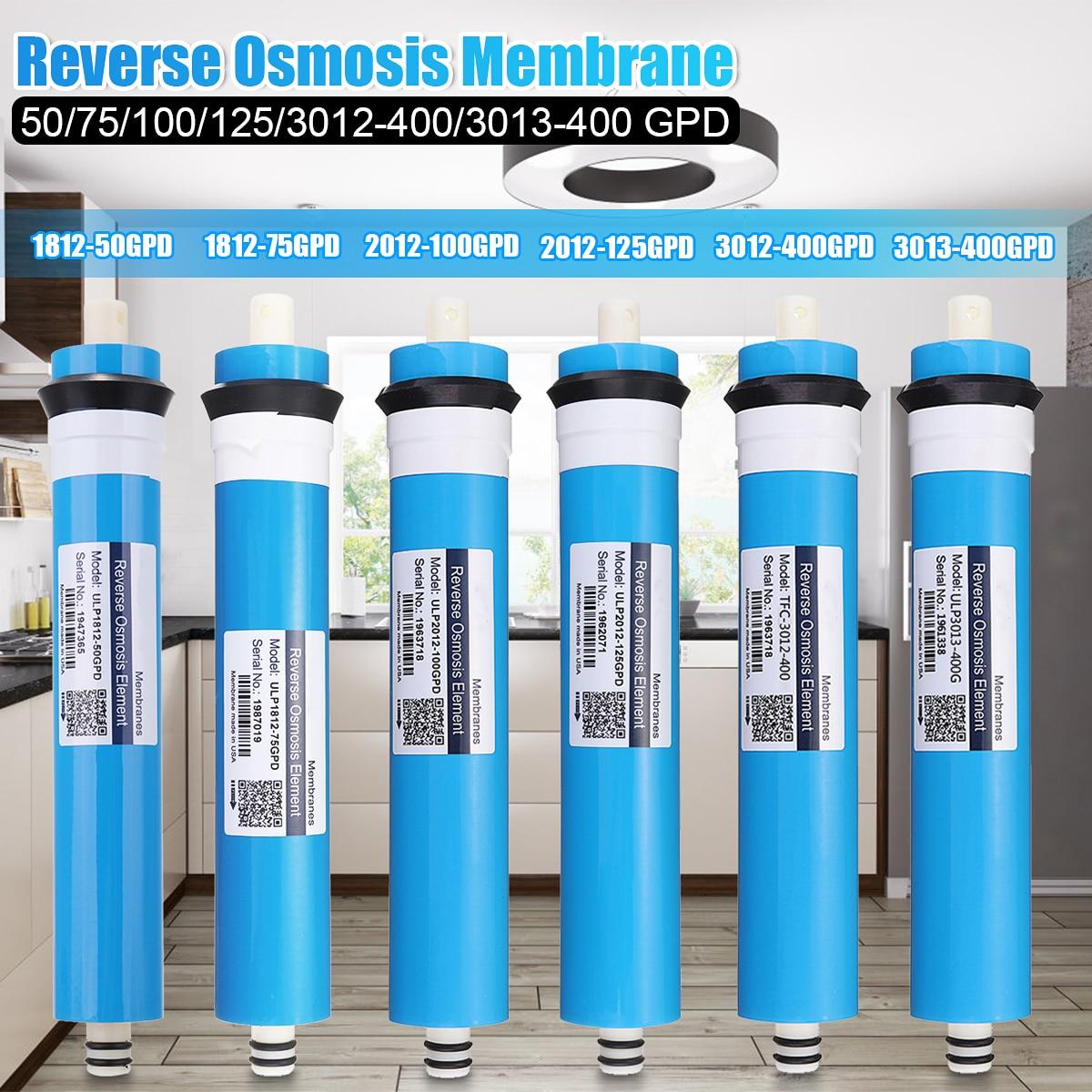 Home 100 GPD RO غشاء التناضح العكسي نظام استبدال المياه فلتر تنقية المياه الترشيح تقليل البكتيريا المطبخ