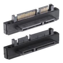 90 degrés 7 + 15Pin SATA mâle à femelle Port adaptateur carte pour adaptateur SATA HDD SSD accessoires dordinateur portable 500Mbps adaptateurs