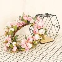 Plantes artificielles de printemps  couronne de feuilles de lierre  guirlande de feuilles de vigne en plastique  plante artificielle de decoration pour la maison  porte dentree