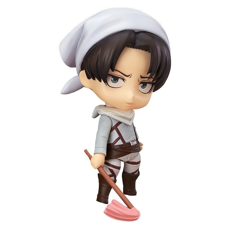 Ataque em titan figura anime figura de ação brinquedo figuras de ação #417 levi limpeza ver. Anime figura brinquedos de ação brinquedos quentes japoneses