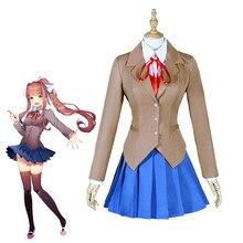 Anime Doki Literature Club Monika Cosplay Sayori Yuri Natsuki Cosplay Costume School Uniform Girl Women Game