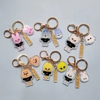 skzoo stray kids figure cartoon double sided printing transparent acrylic keychain keyring bag accessories gifts