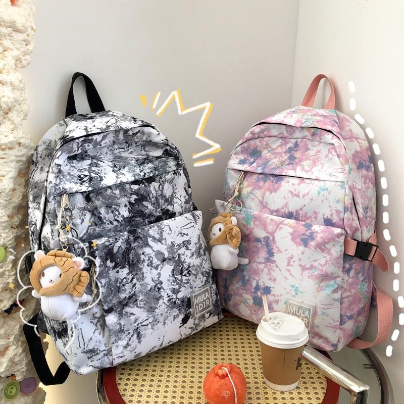 Школьные ранцы для девочек, школьные ранцы для девочек, дизайнерские дорожные рюкзаки унисекс, женские вместительные школьные ранцы на мол...
