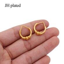 Oorbellen Dubai Oorbellen 24K Gold Kleur Kleine Hoops Oor Ringen Sieraden Earing Oorbellen Piercings Voor Vrouwen Afrikaanse Huwelijksgeschenken