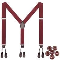 mens leather suspenders button end y back adjustable elastic trouser braces strap belt gifts for him father husband boy friend