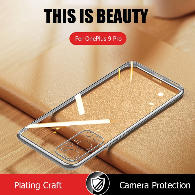 Case For OnePlus 9 Pro Luxury Plating Soft Clear Cover For OnePlus 8T 8 Pro One Plus 9 Pro Phone Cas