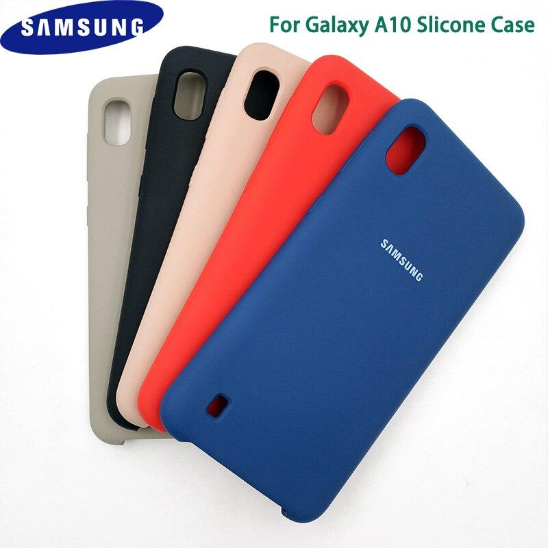 Original Samsung Galaxy A10 Liquid Silicone Case Soft Silky Shell Cover For galaxy A10 Phone Bag protective cover 6.2 Inch &logo