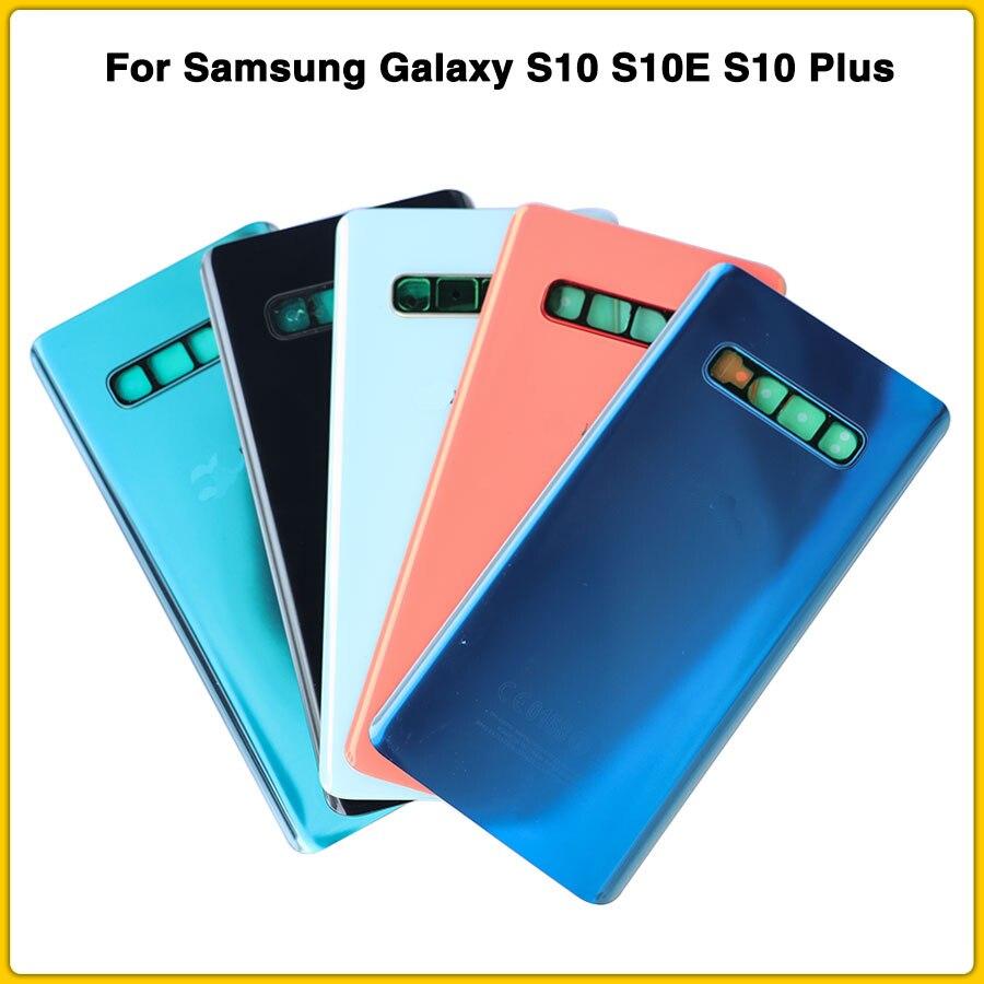OEM S10 крышка батареи для Samsung Galaxy S10 S10E S10 Plus G973 G973F G975 G975F Задняя крышка батареи задняя крышка двери задняя крышка + объектив