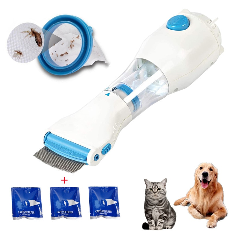 Electronic Electric Flea Comb Fleas Removal Comb For Dogs Cats Pet Supplies To Repel Lice Puppies Fl